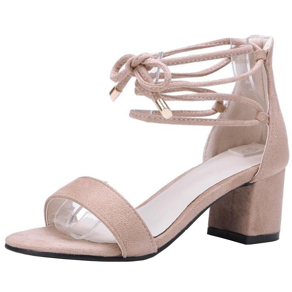 f3f695717aa43a TAOFFEN Damen Schnurung Sandalen Sommer Schuhe Absatz 40.5 EU ...