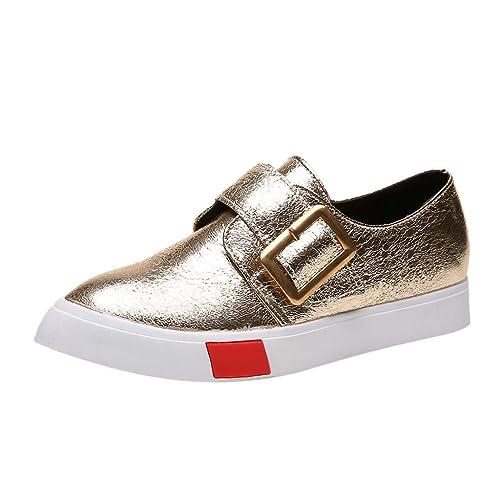 2019 Popular Zapatillas Deportivas Plataforma Cuña para Mujer - Zapatos Wedge Sneakers Mujer, Apto para Todas Las Estaciones (3 Colores Oro, Plata, ...