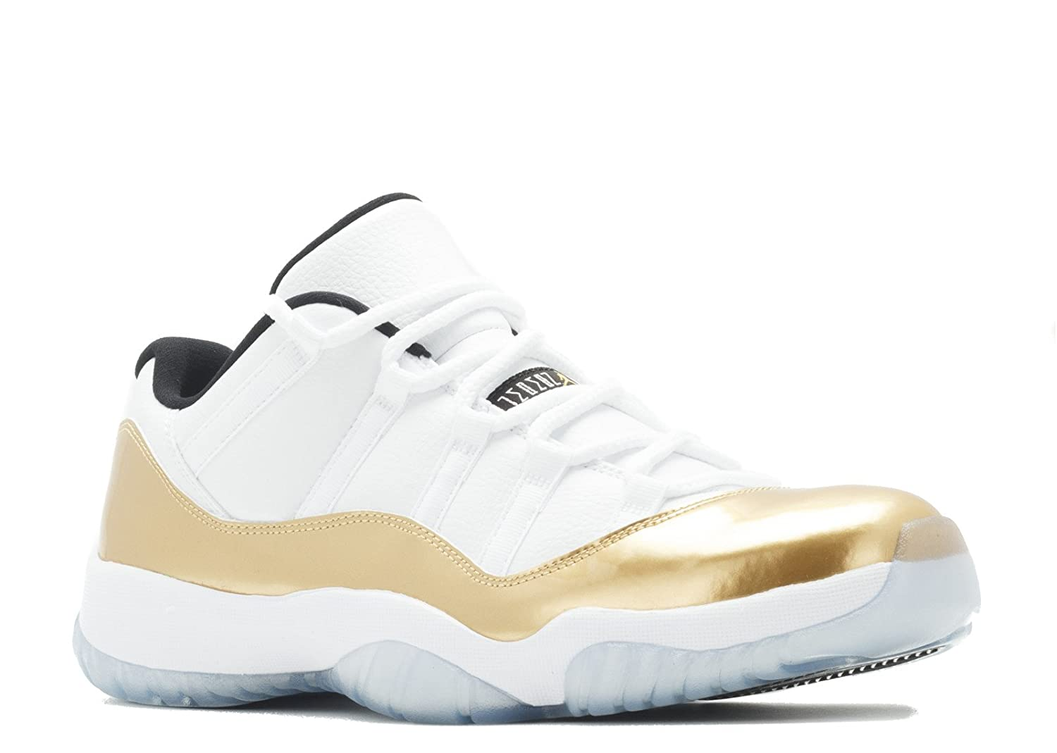new authentic pretty cool high fashion Jordan AIR 11 Retro Low 'White/Metallic Gold' Closing Ceremony August 27  2016 Release Men's Shoe Size