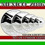 2016 Mexico %2D Set of 5 Libertad Silver