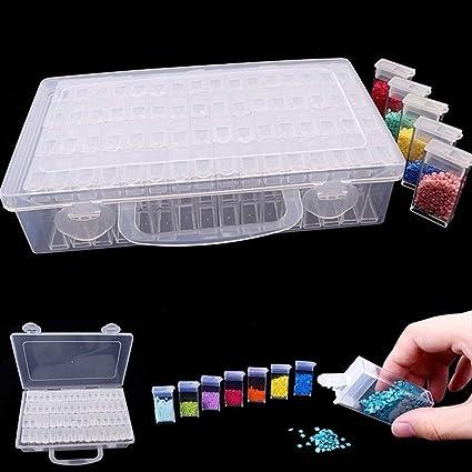 64 Slot Nail Diamond Painting Tool Organizer Case Grid Jewelry Drill Storage Box