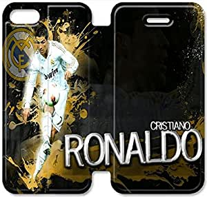 Elegant Printing Cool Cristiano Ronaldo Images Wallpapers-10 iPhone 5C Leather Flip Case