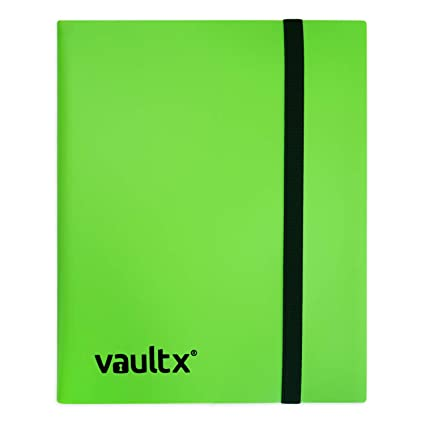 Vault X® Carpeta - Álbum de 9 Bolsillos para Cartas Coleccionables - 360 Bolsillos de Inserción Lateral para TCG (Verde)