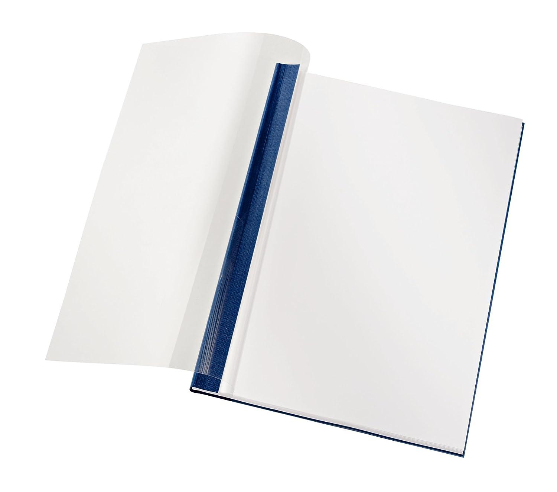 Leitz 74140035 Buchbindemappe impressBIND, Soft Cover, A4, 10,5 mm, 10 Stück, blau 10 Stück Esselte Leitz