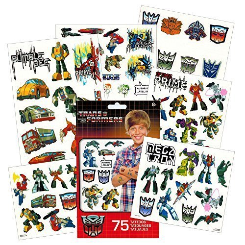 Transformers Temporary Tattoos Party Favor Set (75 Temporary Tattoos) ()