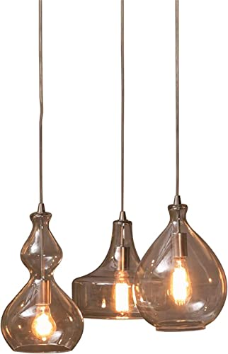 INK IVY FPF21-0369 Firenze Glass Chandelier 10Dx9.5H Clear, 10 D x 9.5 H