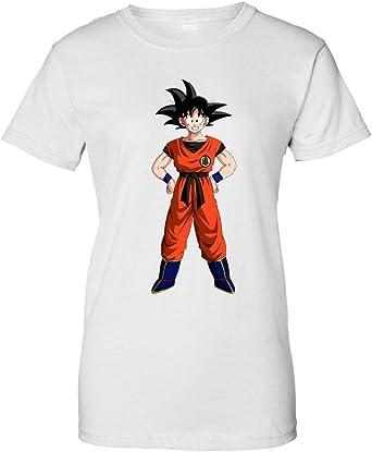 TeeWorld Dragon Ball Z Goku Camiseta de Mujer: Amazon.es: Ropa y accesorios