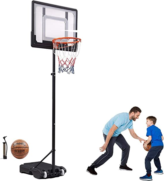 Amazon.com : Bodywell Basketball Hoop & Goal Basketball System Height Adjustable Basketball Stand System for Kids Teenagers 65-82.6in Portble Backboard and Wheel Birthday Gift : Sports & Outdoors