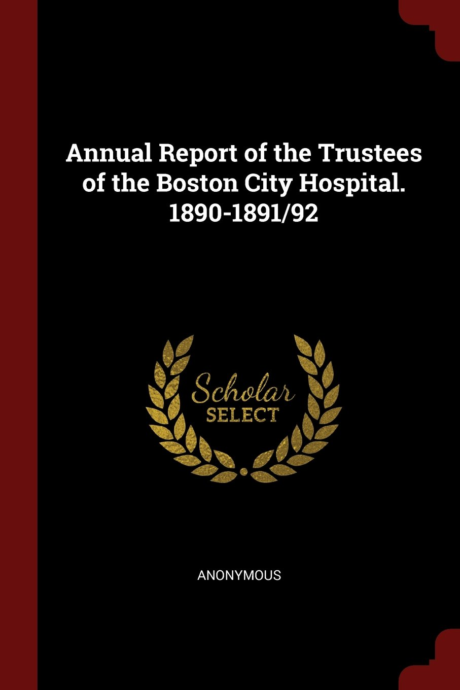Read Online Annual Report of the Trustees of the Boston City Hospital. 1890-1891/92 pdf