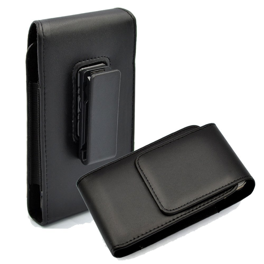 Premium Vertical PU Leather Pouch Case Belt Clip Holster For iPhone X/iPhone 8/7/6/LG Zone 4/LG Riso 3/2/LG Fortune/LG Aristo 2/Tribute Dynasty/Alcatel verso