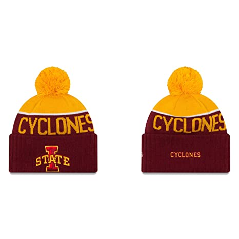 the best attitude df940 65d51 Iowa State Cyclones New Era NCAA Yellow Red Adult Knit Hat