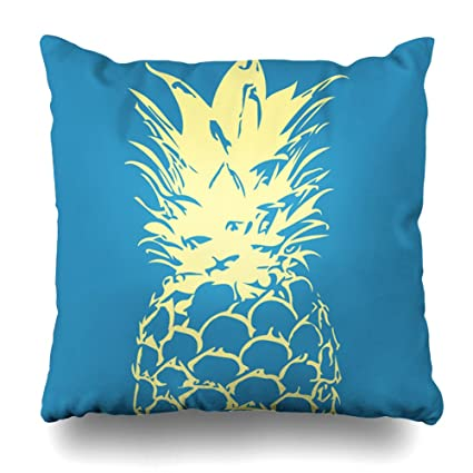 Amazon Soopat Decorative Pillow Cover 40X40 Two Sides Printed Cool Yellow And Blue Decorative Pillows