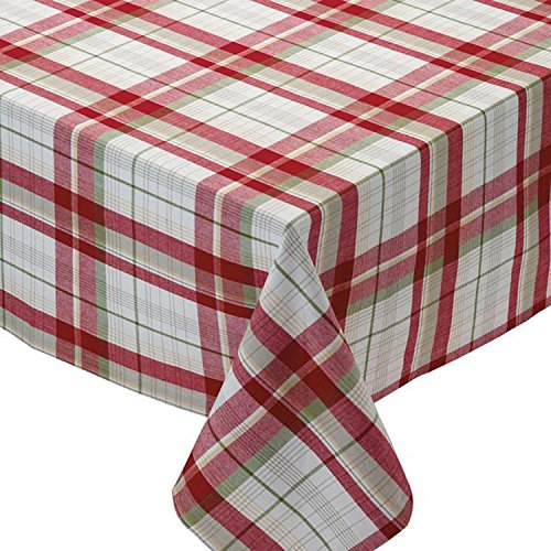 Design Imports Apple Orchard Cotton Table Linens, Tablecloth 52-Inch by 52-Inch Square, Orchard Plaid (Orchard Plaid)