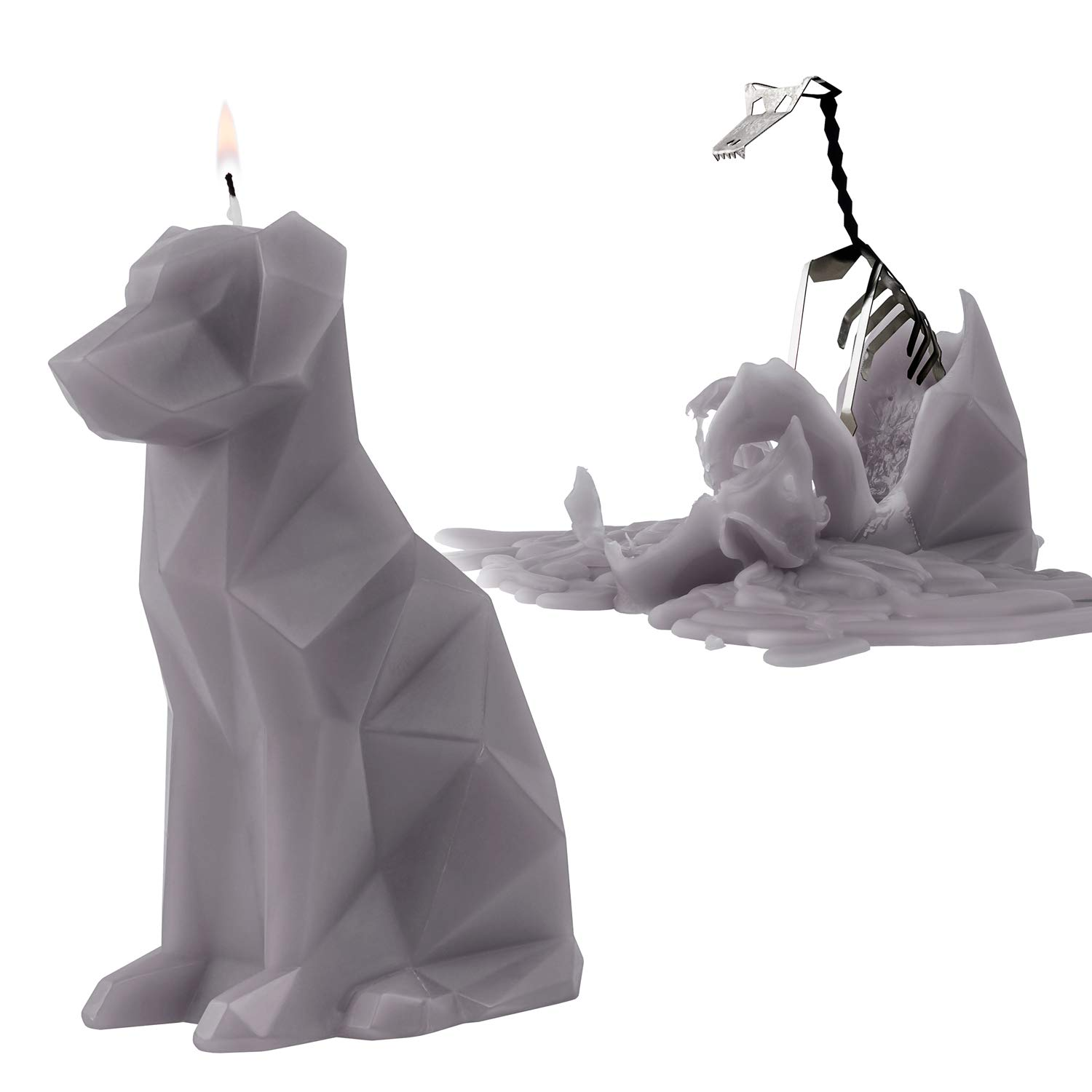 PyroPet Animal Shaped Skeleton Candles by 54 Celsius (Voffi, Grey) by PyroPet