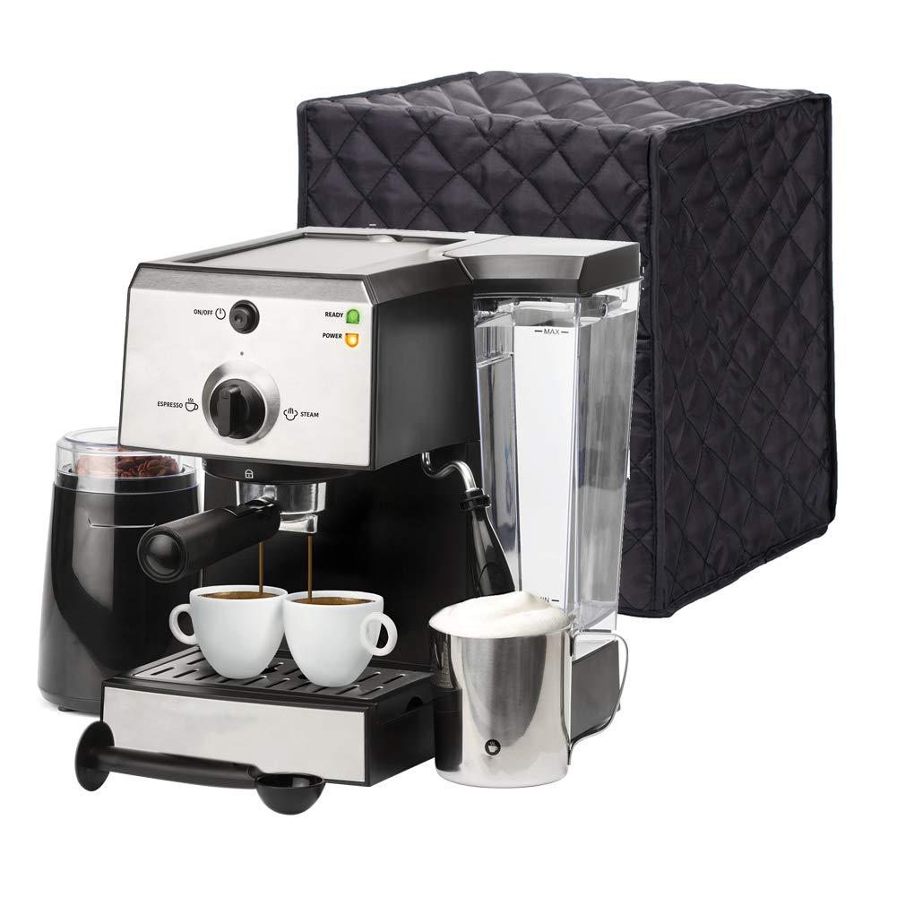 Universal Kitchen Small Appliances Cover, 9.8''x 9.8''x 11.8'' Coffee Maker Cover, Espresso Machines Dust Cover, Kitchen Appliance Accessories Cover JJZ100 by QEES