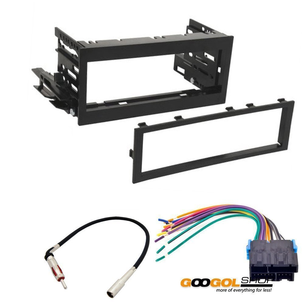 61Tvww58DaL._SL1000_ amazon com car stereo dash install mounting kit wire harness for 1999 GMC at readyjetset.co