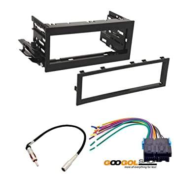 61Tvww58DaL._SY355_ amazon com car stereo dash install mounting kit wire harness for how to install wire harness car stereo at crackthecode.co