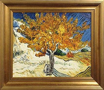 Vincent Van Gogh el árbol de Mulberry enmarcado original pintura de ...