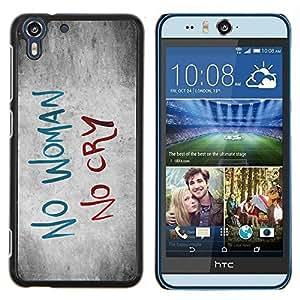 Eason Shop / Premium SLIM PC / Aliminium Casa Carcasa Funda Case Bandera Cover - Mujer Tristeza Cry Cita Slogan Heartbrake - For HTC Desire Eye ( M910x )