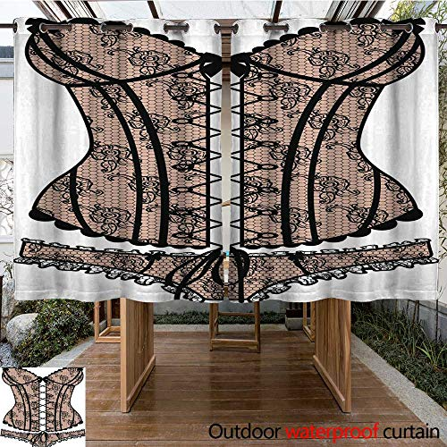 Home Patio Outdoor Curtain Lady s Sexy Guipure Corset W108 x L72