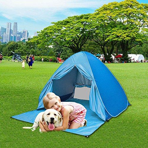 AUGYMER Pop Up Beach Shelter Tent UV Easy Up Beach Sun Shade Shelters Canopy Cabana Lightweight Hiking ... & Pop Up Beach Shelter Tent UV Easy Up Beach Sun Shade Shelters ...