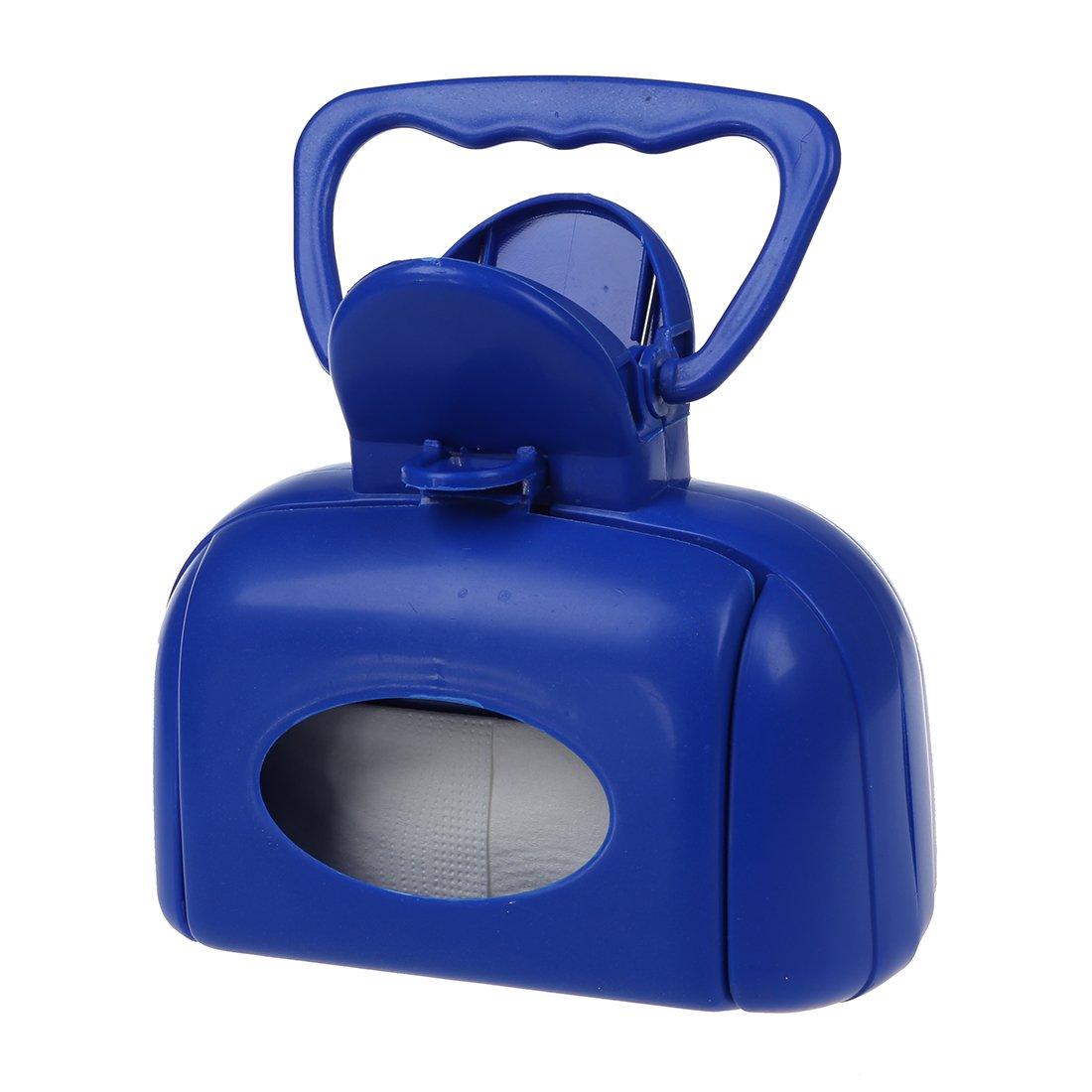 Ramasse-crotte plastique bleu action à ressort SODIAL(R)