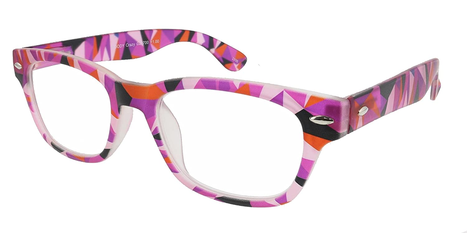 42df04d4720 Amazon.com  I Need You Readers Colorful Woody Crazy Classic Style Reading  Glasses in +1.50 Strength or Choose Your Power  Health   Personal Care