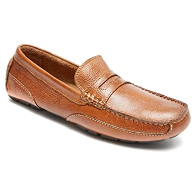 Rockport Men's Oaklawn Park Penny Tan Loafer 7 M ...