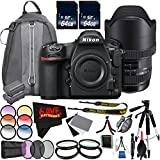 6Ave Nikon D850 DSLR Camera (Body Only) 1585 International Model + Sigma 12-24mm f/4 DG HSM Art Lens for Nikon F + Nikon EN-EL15a Rechargeable Lithium-Ion Battery Bundle