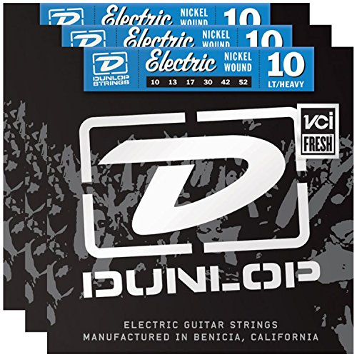 UPC 799928924306, 3 Sets of Dunlop DEN1052 Electric Guitar Strings 10-52