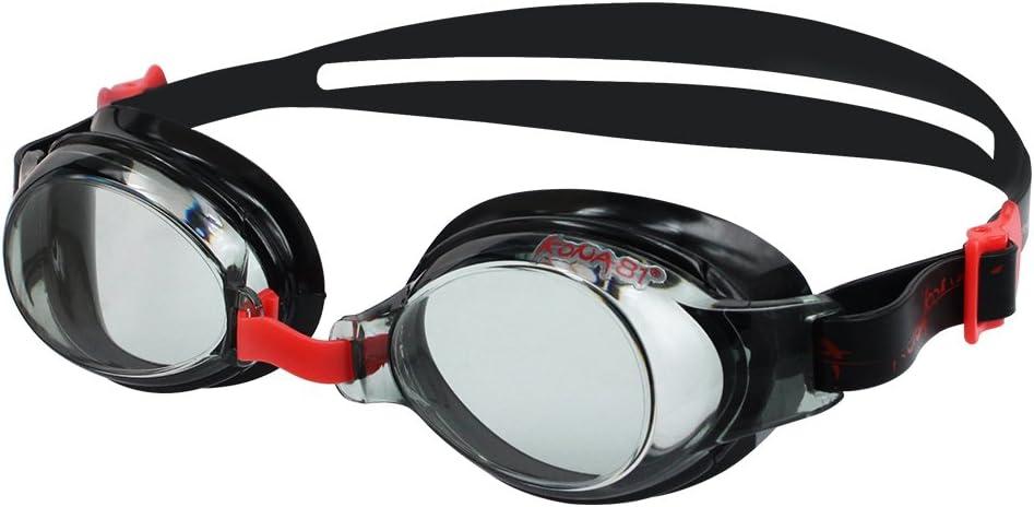 KONA81 Barracuda Gafas de Natación Goggles Triatlón Miopía Óptico Graduado Antiniebla Protección UV Anti-Rotura #71395