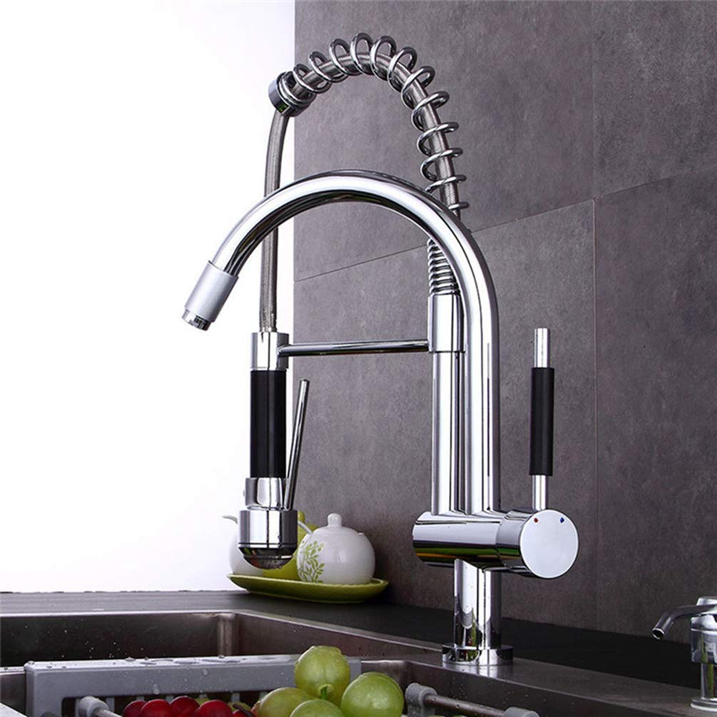 FZHLR Led Kitchen Faucet High-End And Generous Multi-Function Pull Down Kitchen Faucet Dual-Use With Sprayer Kitchen Faucet Torneira