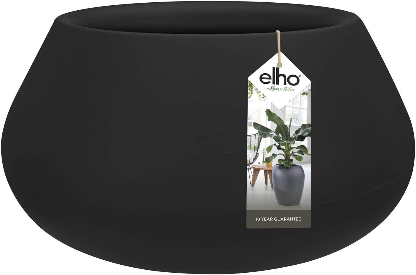 Elho Pure Cone Bowl 60 Noir Int/érieur /& Ext/érieur Pot De Fleurs /Ø 58 x H 29.8 cm