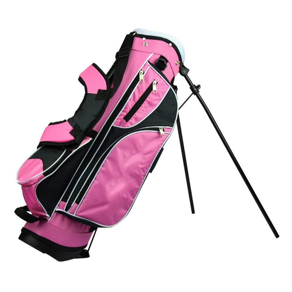 ゴルフバッグ ゴルフバッグ耐摩耗性滑り止めゴルフスタンドバッグメンズ&レディースゴルフアクセサリーゴルフクラブバッグ、複数の機能的コンパートメントポケット付き ベビーカー用ゴルフバッグ (色 : ピンク, サイズ : 76*22*28cm) B07SWHH285 ピンク 76*22*28cm