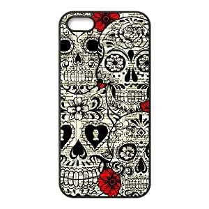 linJUN FENGSkull New Fashion DIY Phone Case for Iphone 5,5S,customized cover case ygtg556993