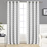 DriftAway Zoe Chevron Pattern Room Darkening/Thermal Insulated Grommet Window Curtains, Set of Two Panels, each size 52″x84″ (Gray) Review