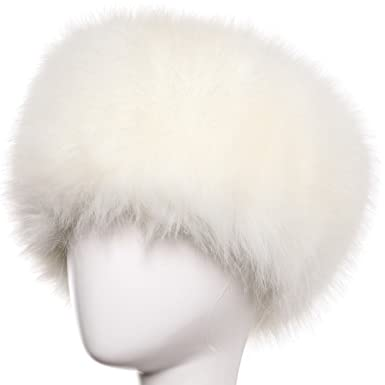 5ca44ae3 Cinoyoni Womens Ladies Winter Faux Fur Cossack Russian Style Hat (White):  Amazon.co.uk: Clothing