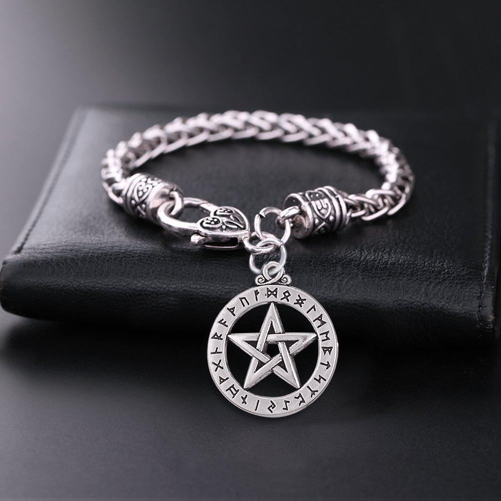 Teamer fascino bracciali Viking Rune gioielli amuleto pentacolo Pentagram ciondolo Supernatural da uomo donna Jewelry