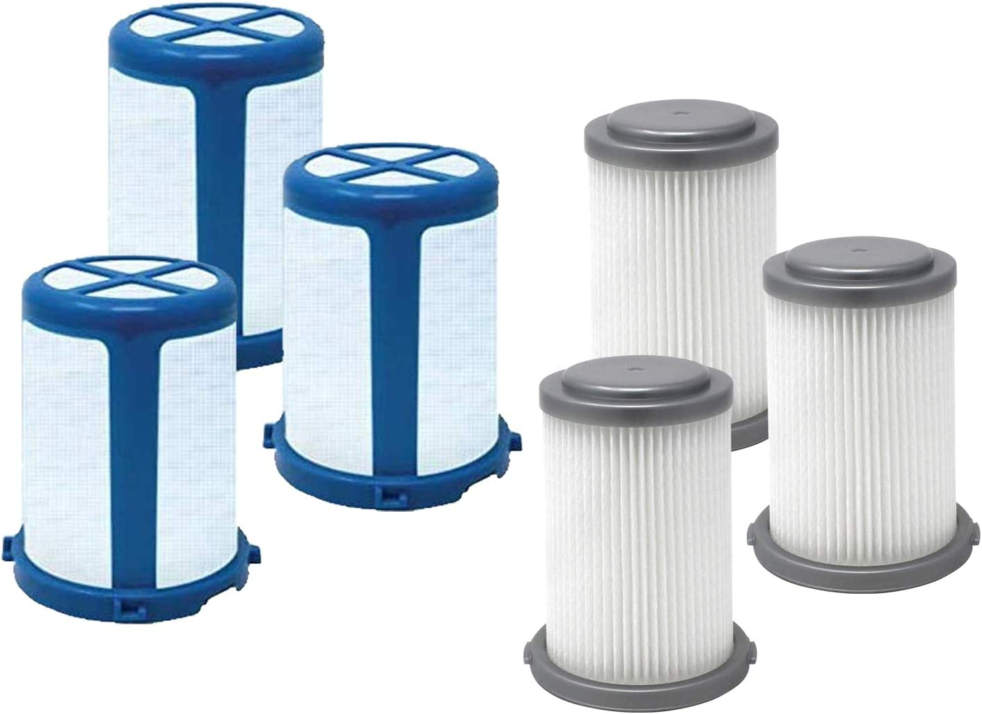 Fette Filter - Vacuum Filters Compatible with Black + Decker Cordless Vacuums HCUA525 Series Compare to Part # CUAHF10 3-Pack + 3 mesh Screens