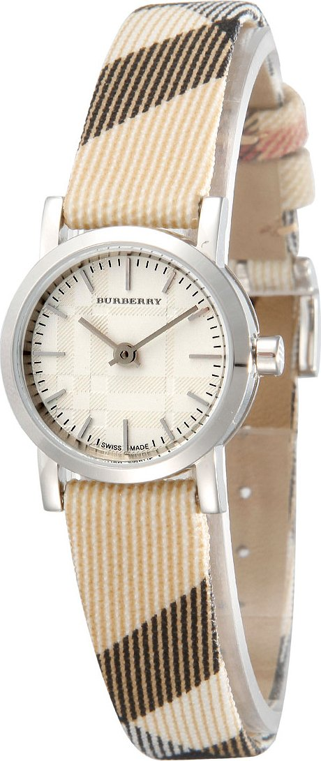 Burberry Heritage LUXURY Womens Unisex Watch Nova Check Fabric Leather Band Engraved Date Dial BU1759
