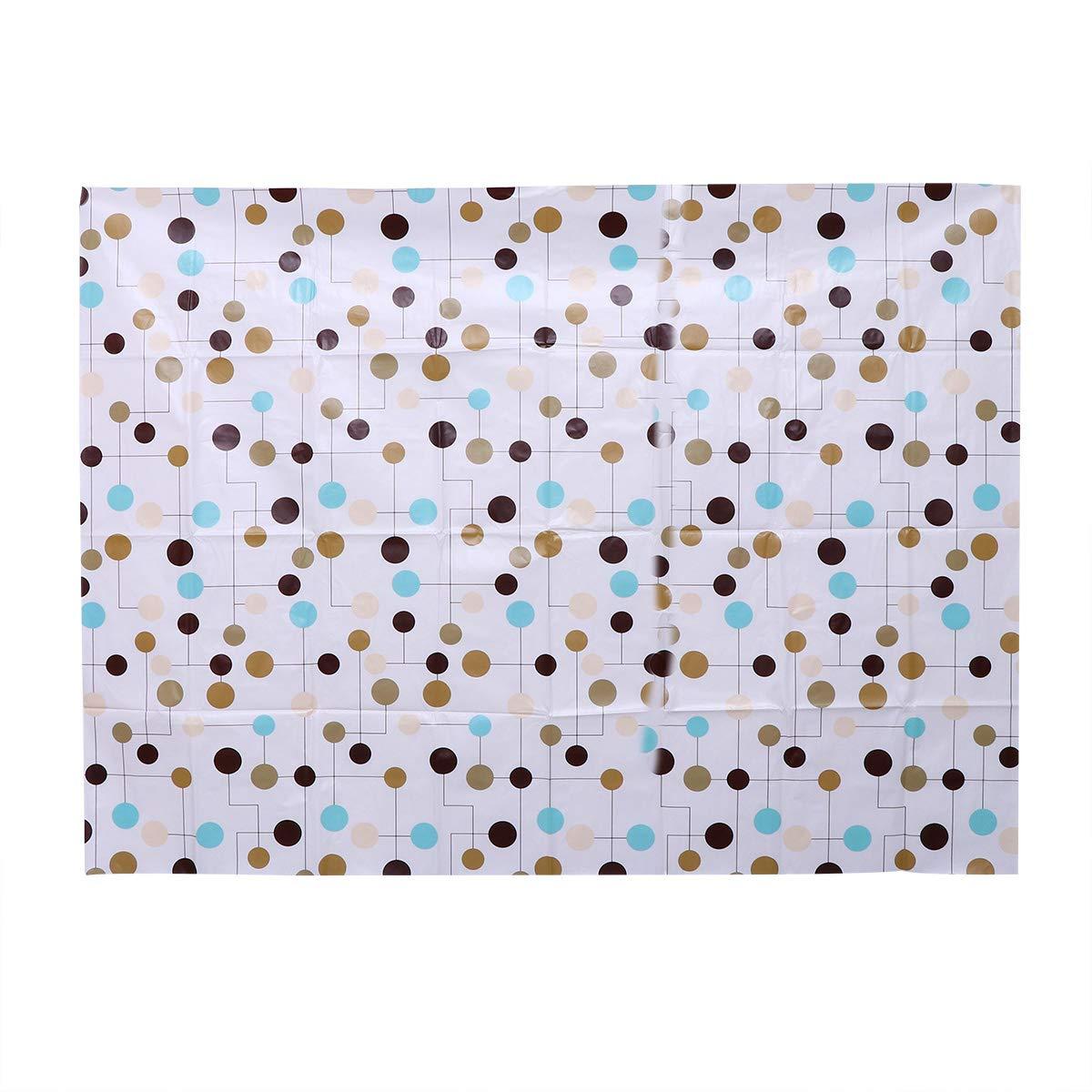 Yardwe Cubierta de Tabla Impermeable del rectángulo del Mantel plástico Impreso Punto de la Onda para la decoración casera de la Cocina