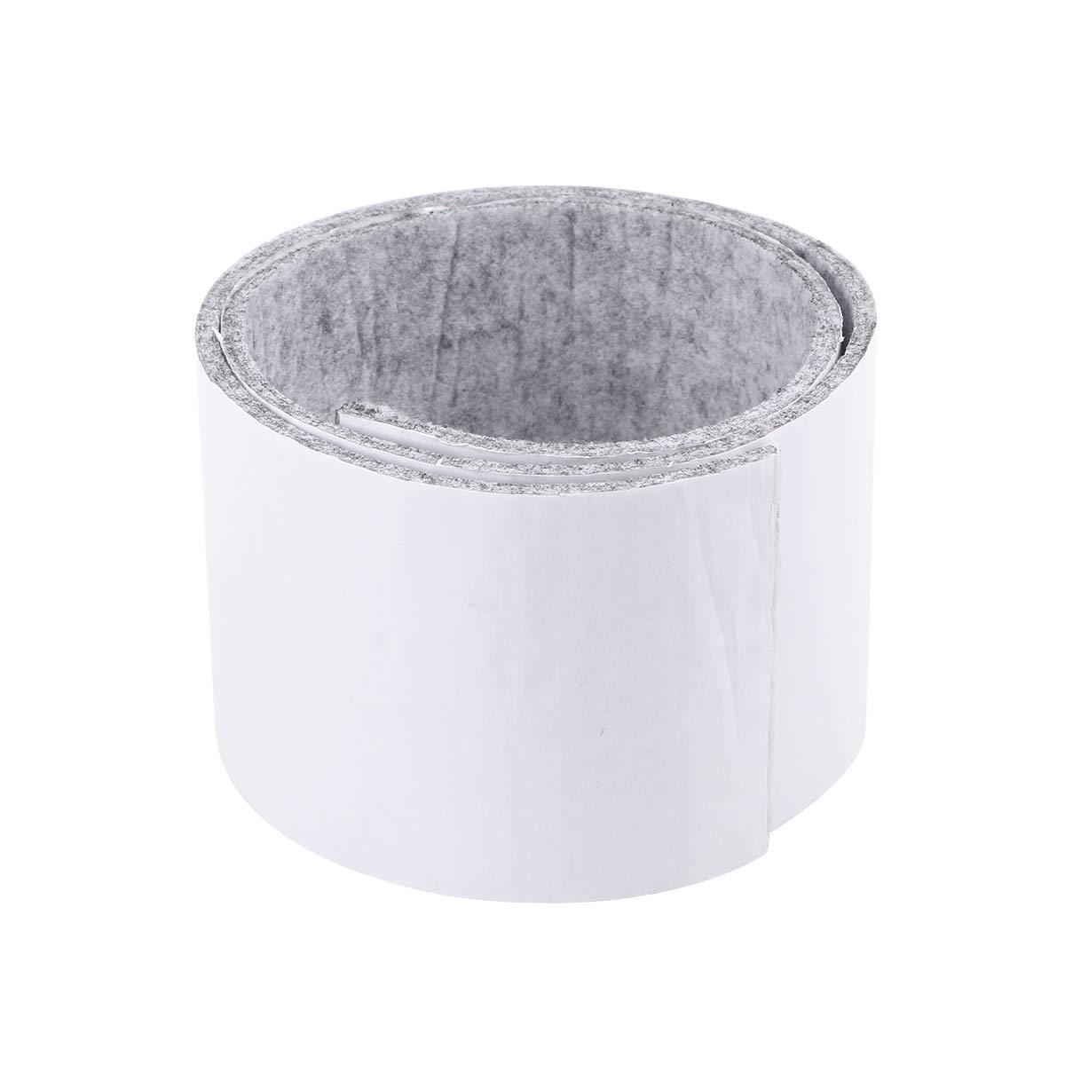 Clispeed Nastri di feltro rettangolari Nastri di feltro antiscivolo Taglio di strisce di feltro per piedi di mobili Protezione di pavimenti di latifoglie (grigio chiaro) - 100x10cm