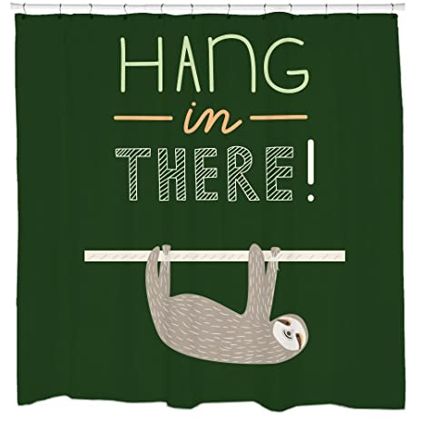 Amazoncom Motivational Quotes Sloth Shower Curtain Hang In There