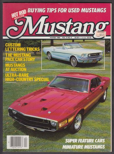 HOT ROD Mustang V2 #4 Custom Lettering Pace Car Auction High-Country Winter 1984