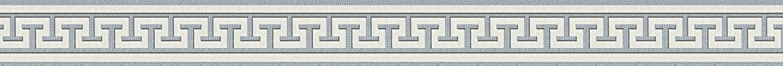 A.S. Création selbstklebende Bordüre Stick ups klassisch stark strukturiert 5, 00 m x 0, 04 m grau metallic weiß Made in Germany 281319 2813-19 A.S. Création