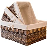 Handmade Woven Maize and Hyacinth Storage Basket,Kingwillow, (Set of 3)