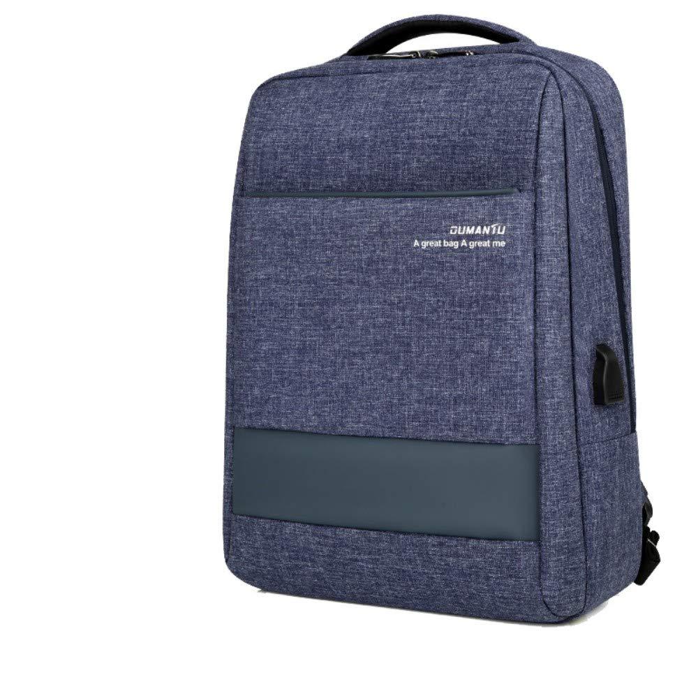 HXG Laptop Rucksack 15 Zoll Wasserdichte Reisetasche Mode Lässig Kaufmann   Leichte Männer und Frauen Rucksack Große Kapazität Polyester Blaugrau (WasserabWeißend)