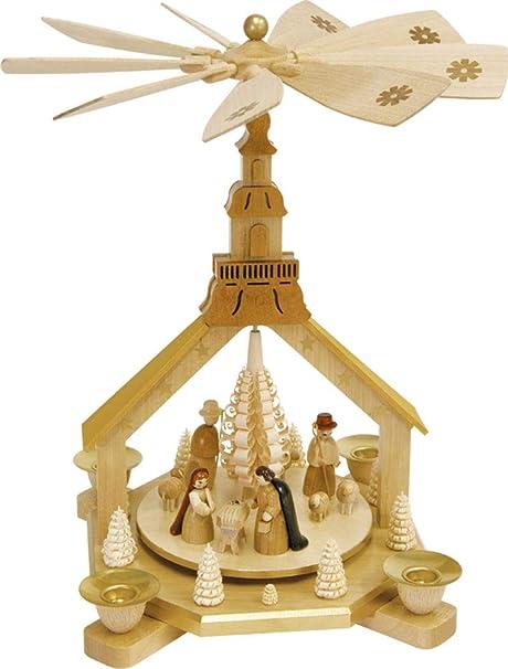 Amazon.com: Natural alemán Iglesia Natividad pirámide de ...
