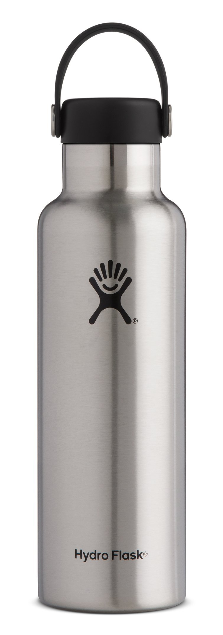 Hydro Flask 12 oz Double Wall Vacuum Insulated Stainless Steel Leak Proof Sports Water Bottle, Standard Mouth with BPA Free Flex Cap, Stainless