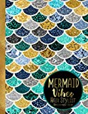 img - for Mermaid Vibes Hair Stylist Appointment Book: 8.5 x 11 Pretty Gold Foil Mermaid Pattern Hairdresser 52-Week Daily Undated Schedule Calendar book / textbook / text book